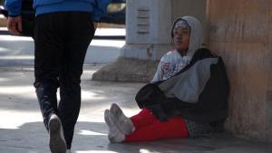 مهاجرة سرية من نيجيريا إلى المغرب: الرباط 15 / 11 / 2013. photo: DW/A. Boukhems