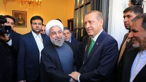 رئيس الوزراء التركي رجب طيب إردوغان في زيارته للرئيس الإيراني حسن روحاني في طهران في 29 / 01 / 2014.  Foto: MEHR