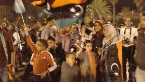 احتفالات بتاريخ 17 / 02 / 2014 في ساحة الشهداء بطرابلس في الذكرى السنوية الثالثة للثورة في ليبيا. Foto: Valerie Stocker