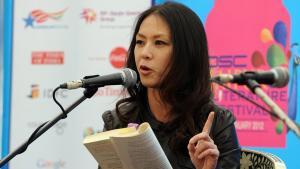 المحامية والكاتبة الأمريكية من أصل صيني إمي تشوا. Foto: Prakash Singh/AFP/Getty Images