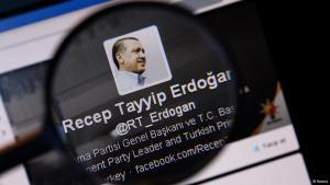 حساب باسم رئيس الوزراء التركي رجب طيب إردوغان على موقع تويتر