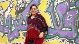 الكاتبة المصرية منصورة عز الدين. Foto: Arian Fariborz