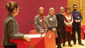 """""""مجموعة عمل المسلمين"""" في الحزب الديمقراطي الاشتراكي الألماني. Foto: Hendrik Rauch"""