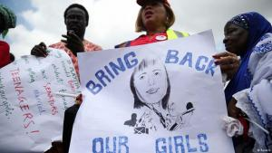 مسيرة احتجاجية على اختطاف أكثر من 200 تلميذة نيجيرية من قبل جماعة بوكوحرام المتطرفة. Foto: Reuters