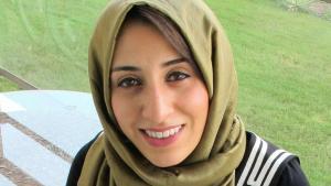 الناشطة البحرينية آلاء الشهابي. Foto: Ala'a Shehabi