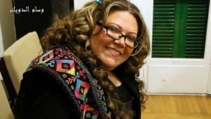 """من حفل توقيع رواية """"هلاوس"""" """" في القاهرة في فبراير 2014 والرواية هي الثالثة للكاتبة الشابة نهى محمود، الصورة: ابتسام فوزي"""