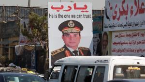 من حملة السيسي الانتخابية. Foto: SN/APA (DPA)/MICHAEL KAPPELER