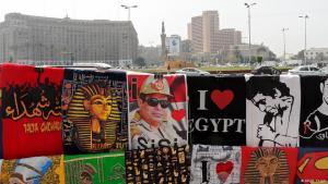 معروضات في القاهرة تمجّد السيسي. Foto: DW