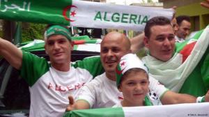 مشجون للمنتخب الجزائري في ألمانيا 2014. Photo: Ali Almakhlafi