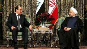 رئيس وزراء العراق نوري المالكي في زيارة للرئيس الإيراني حسن روحاني. Foto: AFP