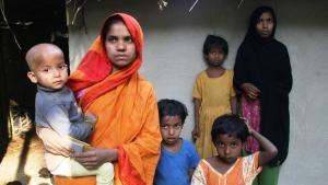من اللاجئين المسلمين الروهينجا الهاربين من ميانمار بالقوارب. Foto: DW/Shaikh Azizur Rahman