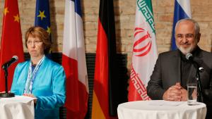 كاثرين وظريف. Foto: Reuters