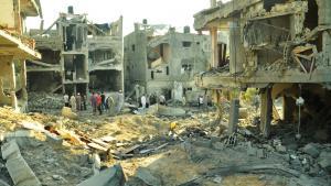بنايات مدمرة في غزة. 19 / 07 / 2014. Foto: DW/Shawgy el Farra