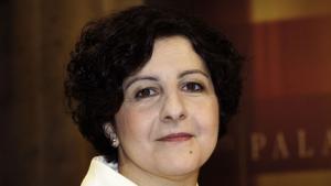 الكاتبة الألمانية ذات الأصول التركية-العراقية، أمل زين العابدين. Foto: picture-alliance/dpa
