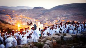 حجاج سامريون على جبل جرزيم.  Foto: samaritans-museum.com