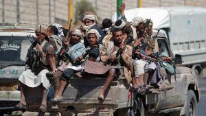 متمردون حوثيون شيعة في صنعاء بتاريخ 21 / 09 / 2014 .  Foto: AFP/Getty images