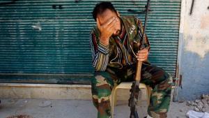 أحد أعضاء الجيش السوري الحر في حلب. Foto: Reuters