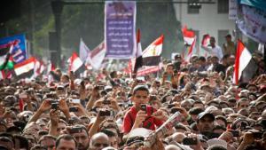 متظاهرون في احتجاجات في القاهرة بتاريخ 08 / 04 / 2011. Foto: © Mosa'ab Elshamy