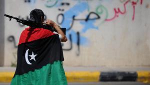 مقاتلون ليبيون في طرابلس. Foto: picture-alliance