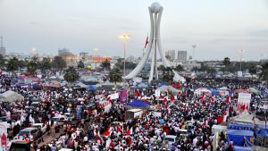 مظاهرات احتجاجية في ميدان اللؤلؤة في المنامة. 04.03.2011; Foto: picture-alliance/landov