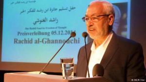 راشد الغنوشي في برلين 05 / 12 / 2014 وهو يلقي كلمة بمناسبة تسلمه جائزة ابن رشد للفكر الحر لعام 2014.