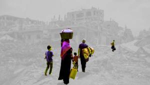"""""""بينالي قلنديا الدولي"""" للفنون المعاصرة في المدن الفلسطينيةMohammed al-Hawajris Bild """"In the remainder we will live""""; Quelle: Mohammed al-Hawajri"""