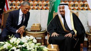 الرئيس الأمريكي أوباما في زيارة إلى الرياض لدى الملك السعودي الجديد سلمان. Foto: Reuters