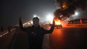 قتلى في أعمال شغب أثناء مباراة لكرة القدم في مصر 08.02.2015; Foto: STR/AFP/Getty Images