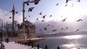 جامع أورتاكوي في اسطنبول نموذج للمسجد المقرر بناؤه في كوبا. photo: AP