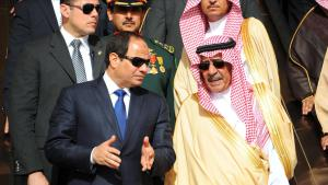الرئيس السيسي لدى الملك سلمان 01 / 03 / 2015 Foto: picture-alliance/Office Of The Egyptian President