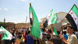 احتجاجات في درعا ضد بشار الأسد 25 / 05 / 2012.  Foto: Reuters