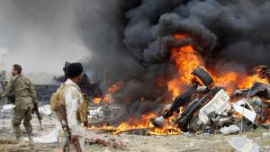 تفجير انتحاري جنوب تكريت في العراق. Foto: Reuters