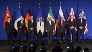 تم التوصل في مدينة لوزان السويسرية بعد مفاوضات صعبة إلى اتفاق إطاري حول البرنامج النووي الإيراني. Foto: AFP/Getty Images
