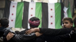 معارضون سوريون في حلب. Foto: Odd Andersen/AFP/Getty Images