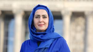 المعلمة المسلمة في ألمانيا فريشتا لودين في برلين 2015. Foto: picture-alliance/dpa/D. Gerlach