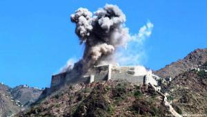 قلعة القاهرة المطلة على مدينة تعز في اليمن al-qahira_Castle_Cairo_Castle_Taiz_Yemen_AP