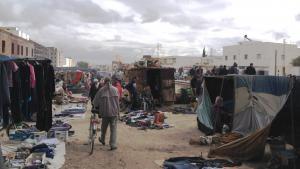 سوق في مدينة القصرين ، تونس. Foto: Beat Stauffer