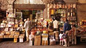 سوق في دمشق. Foto: picture-alliance/bildagentur-online.com