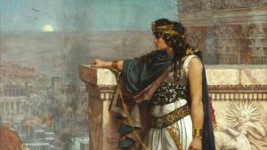 ملكة تدمر في سوريا القديمة، زنوبيا الملكة العربية أسيرة في قبضة الرومان في القرن الثالث الميلادي، لوحة للفنان هيربيرت غوستاف رسمها عام 1888. Foto: picture-alliance/heritage-images