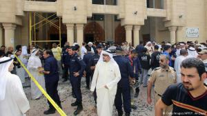 """الكويت:  قُتل وأُصيب نحو 40 مصليا في هجوم انتحاري تبناه تنظيم """"الدولة الإسلامية"""" الجمعة ( 26 حزيران/ يونيو 2015) واستهدف مسجد الإمام الصادق في منطقة الصوابر وهو خاص بالشيعة في العاصمة الكويتية أثناء أداء صلاة الجمعة."""
