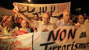 تونسيون يحتجون ضد الإرهاب بعد هجوم سوسة. Foto: Picture-Alliance/AA/Y. Gaidi
