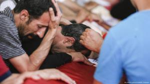 """أجواء الحزن على مقتل أحد الجنود الأتراك على يد تنظيم """"الدولة الإسلامية"""". Foto: Picture-Alliance"""