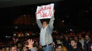 محتج أردني يطالب بإسقاط النظام.  13.11.2012; Foto: Jamal Fkhaidah/DW
