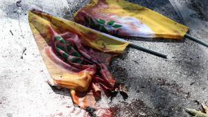 دم في مكان تفجيرات أنقرة (photo: Getty Images/G. Tan)