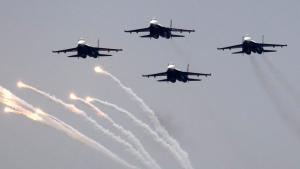 تركزت ضربات صواريخ سوخوي الروسية على أهداف في مدن إدلب وحمص وحماةFoto: picture-alliance/dpa/Y.Kochetkov