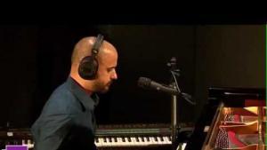 بشار مار خليفة  Bachar Mar-Khalife in session with France Culture. source: YouTube still