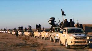 قافلة سيارات تابعة لتنظبم الدولة الإسلامية. Foto: picture-alliance/AP
