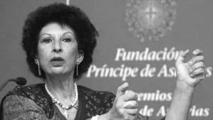 عالمة الاجتماع المغربية فاطمة المرنيسي. Foto: J.L. Cereijdo/AP