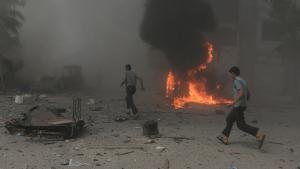 براميل الأسد المتفجرة في دوما - دمشق.  Damaskus; Foto: Reuters/B. Khabieh