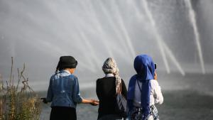 مسلمون شباب في ألمانيا. Foto: picture-alliance/dpa/A. Heimken
